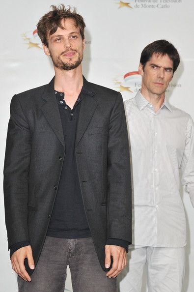 "Matthew Gray Gubler Photos - Matthew Gray Gubler and Thomas Gibson (R) attend ""Criminal Minds"" photocall during the Monte Carlo TV Festival at the Grimaldi forum on June 2011 in Monaco, Monaco. Dr Reid, Dr Spencer Reid, Hotch Criminal Minds, Matthew 3, Thomas Gibson, Matthew Gray Gubler, Baby Daddy, Monte Carlo, Favorite Tv Shows"