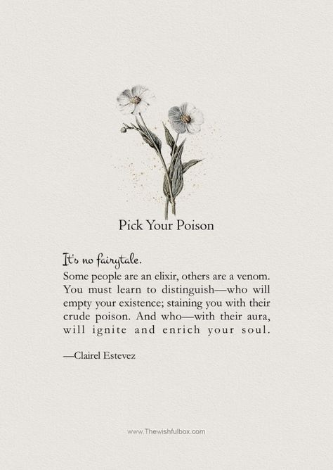 Pick Your Poison; words and poems about inspiration.