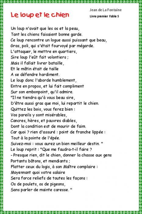 Le Loup Et Le Chien Pdf : chien, Imprimer, Chien, Fontaine, Fables, Fontaine,, Fable,, Fontaines