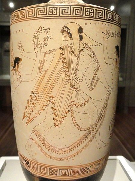 Attic White Ground Lekythos Funerary Oil Jug With Labeled Figures Atalanth And Erws Attributed T Ancient Greek Pottery Greek Pottery Ancient Greek Art