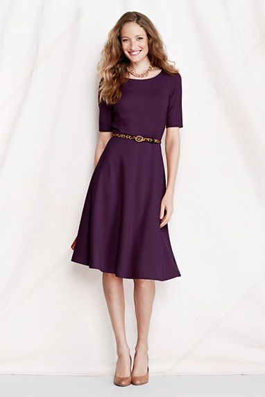 Ponte dresses are comfortable, chic, and versatile. Could be paired with sweater or jacket or alone. Like fit and flare for my busty figure.