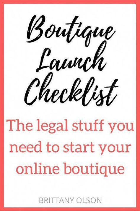 Life & Business // How to Start An Online Boutique - Boutique Launch Checklist for Obtaining Your Business Licenses, Seller Permit, Finding Wholesalers, and Choosing an Ecommerce Platform - The legal stuff you need for starting an online shop Starting An Online Boutique, Online Shops, Online Boutiques, Online Shopping, Selling Online, Business Planning, Business Tips, Business Launch, Business Website