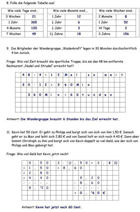 Groß Kartenmaßstab Einer Tabelle 4Klasse Ideen - Arbeitsblätter für ...