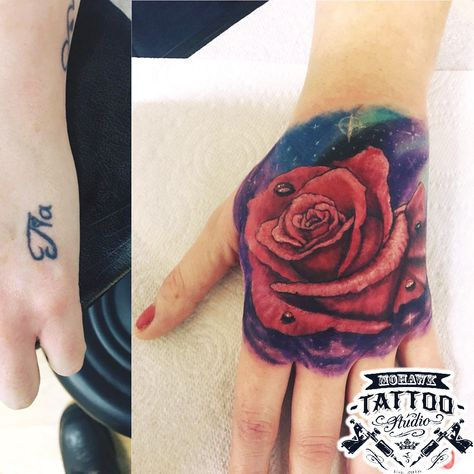 instatattoo Rose tattoo cover-up :) #rose...