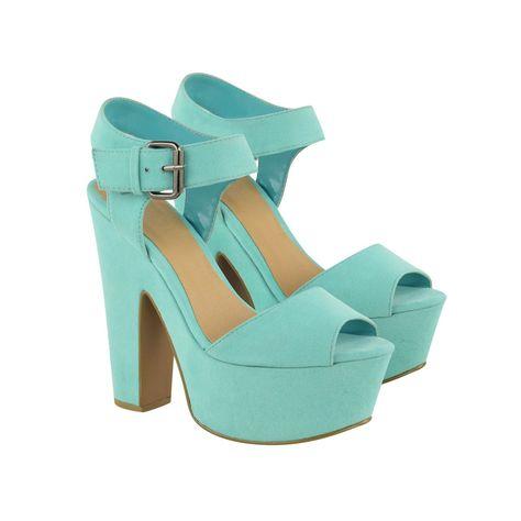 f856f48d86db Mint Green Suede Block High Heels - Ruby