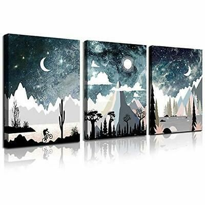 Outer Space Starlight Canvas Prints Wall Art Abstract Painting Picture Framed In 2020 Astronomy Artwork Amazon Wall Art Wall Art Canvas Prints