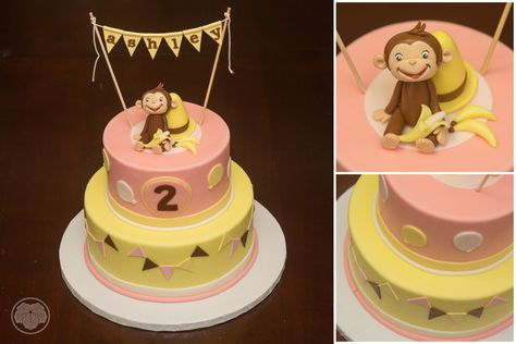 Curious George cake for little girl.