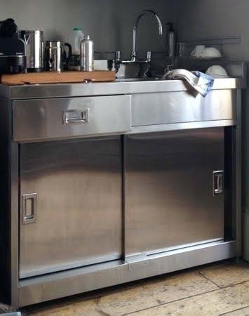 Metal Kitchen Sink Cabinet Unit Kitchen Cabinets Lowes Reviews Inside Metal Kitchen Sink Cabi Kitchen Sink Units Industrial Decor Kitchen Kitchen Base Cabinets
