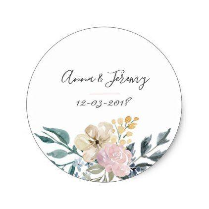 Vintage Floral Wedding Sticker Zazzle Com Wedding Stickers Vintage Wedding Gifts Vintage Floral