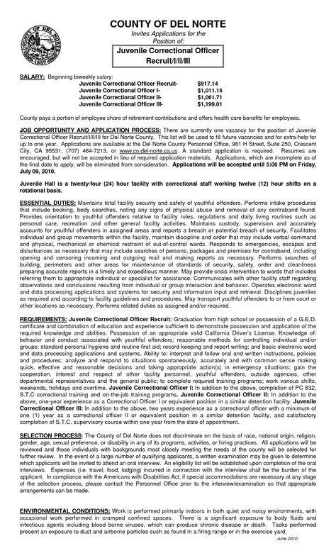 Resume For Juvenile Detention Officercareer Resume Template Career Resume Template Cover Letter For Resume Resume Correctional Officer