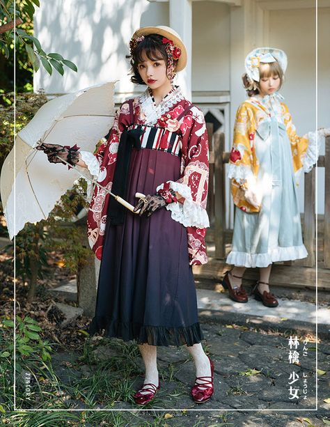 ZJ Story -Plum-leaved Apple- Wa Lolita Haori (printed version)