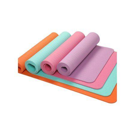 Eco Friendly Thick Non Slip Tpe Yoga Mat High Grade Pilates Exercise Fitness Mat Walmart Com Mat Exercises Pilates Workout Thick Yoga Mats