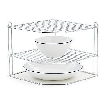 http www lakeland co uk 22499 corner plate rack plate racks plates shelf organization pinterest