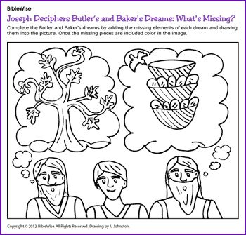 joseph in jail and the cupbearers dream genesis 40 coloring bible ot genesis pinterest joseph sunday school and bible crafts
