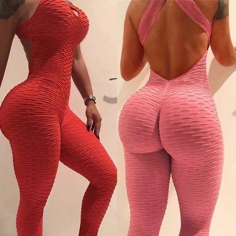 Hollow Bodysuit Fitness Playsuit Mesh Women Jumpsuit Tank Romper Catsuit Macacao Jumpsuit Combinaison Femme Size S Color Style 1