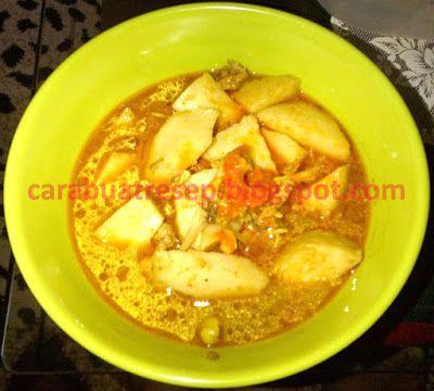 Foto Resep Lontong Kari Daging Sapi Khas Bandung Sederhana Spesial Asli Enak Makanan Daging Sapi Kari