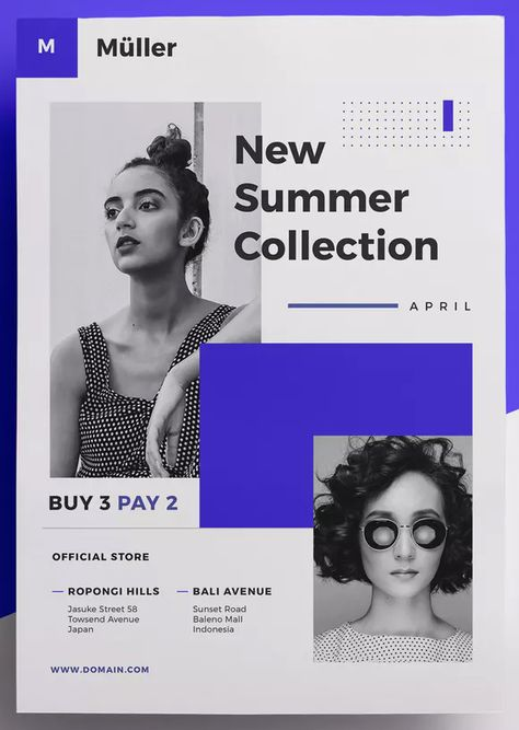 Fashion Flyer Template AI, EPS, INDD, PSD