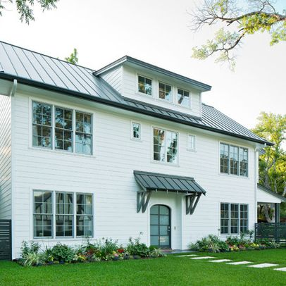 Contemporary Home White Roof Overhang Design Ideas, Pictures, Remodel And  Decor | Front Door | Pinterest | Roof Overhang, Front Door Awning And Front  Door ...