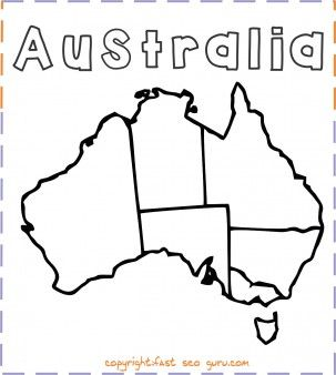 Printable Australia Map Coloring Page Printable Coloring Pages