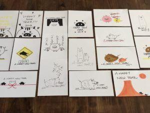 2019年干支いのしし年 おしゃれな亥年の手書きイラスト年賀状の簡単アイデア集 子供向けの簡単イラストや手作り年賀状の作り方も イラストアイデア多数あり 年賀状