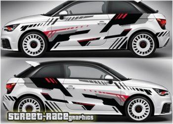 Audi A1 Racing Rally Graphics Stiker Mobil Mobil Modifikasi Mobil