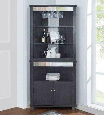 Charlton Home Highwoods Bar Cabinet Color Gray Corner Bar Home Bar Cabinet Corner Bar Cabinet