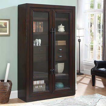 Mckellan Glass Door Bookcase Bookcase With Glass Doors Glass