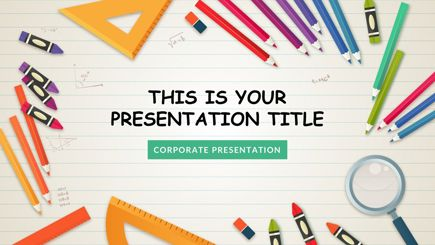 The Best Free Powerpoint Templates To Download In 2018 Graphicmama School Template School Powerpoint Templates Free Powerpoint Presentations
