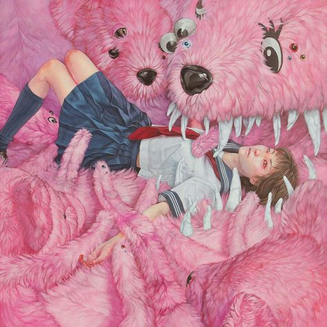 I love Art ,Horror and other nice things. All the Pictures that I post do not belong to me! Kunst Inspo, Art Inspo, Lowbrow Art, Creepy Cute, Pop Surrealism, Japanese Artists, Horror Art, Surreal Art, Aesthetic Art