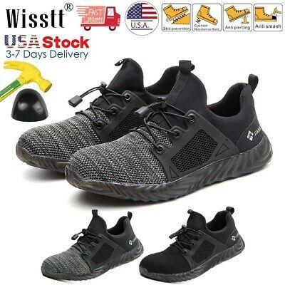 Men/'s Work Safety Shoes Steel Toe Bulletproof Boots Indestructible Sneakers US