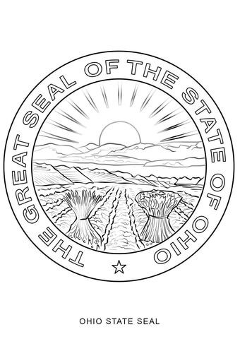 Ohio State Seal Coloring Page From Ohio Category Select From