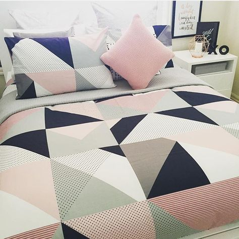 Pastel pink, grey and navy bedlinens | Our Urban Box