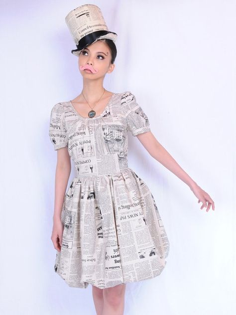 pays des fees Newspaper Bubble Dress | Tokyo Otaku Mode Shop
