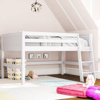 Burkley Full Low Loft Bed In 2020 Low Loft Beds Low Loft Beds For Kids Twin Loft Bed
