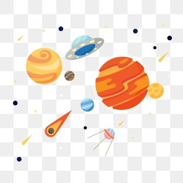 Cosmic Decoration Planet Decoration Solar System Planet Png And Vector Watercolor Flower Illustration Planet Vector Flower Illustration