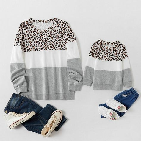 Matching Leopard Gray Sweatshirt - Leopard Gray / Child: 12-18M
