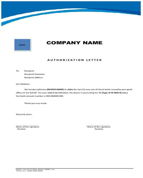 Authorization Letter Collect Bank Statement Cover The For Change