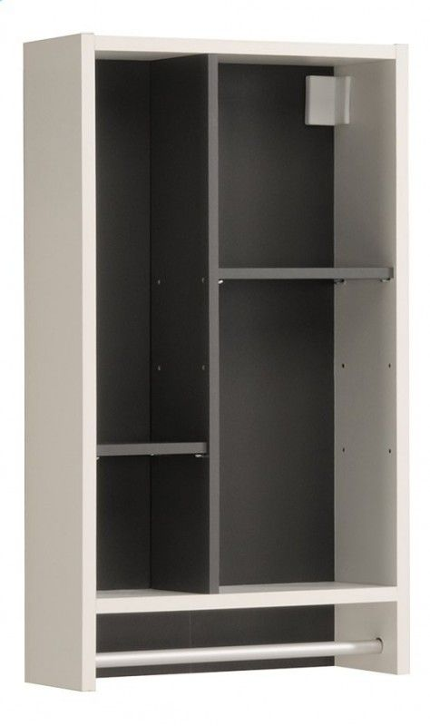 Armoire Murale Armoire Murale 4 Niches 1 Porte Serviette Gris Et
