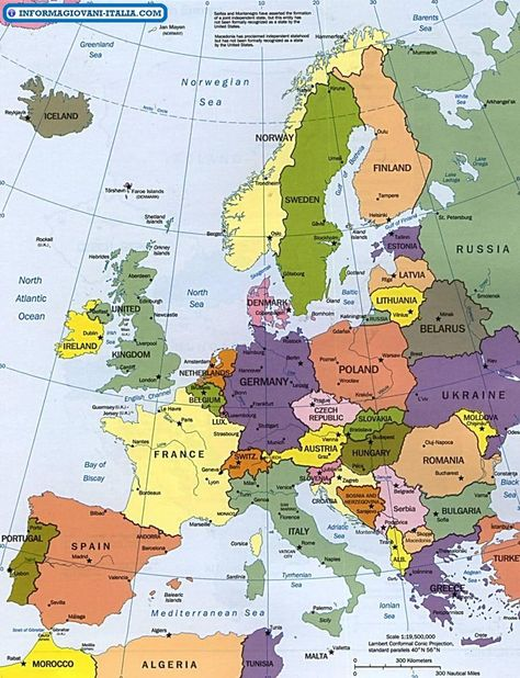 Cartina Geografica Europa E Africa.Mappa Dell Europa Cartina Dell Europa Mappe Europa E Geografia