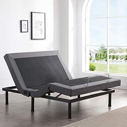 Classic Brands Adjustable Comfort Upholstered Adjustable Bed Base