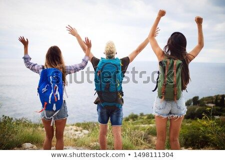 Stock Photo Group Of Backpackers And Young Friends Traveling And Having Fun Together Travel Friends Business Lifestyle Talent Development