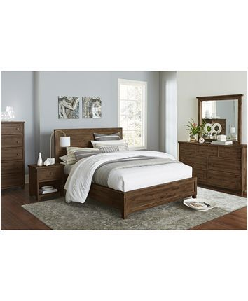 Furniture Canyon Platform Bedroom Furniture Collection Created For Macy S Reviews Furniture Macy S Bedroom Collections Furniture Wood Bedroom Sets Coastal Bedroom Furniture