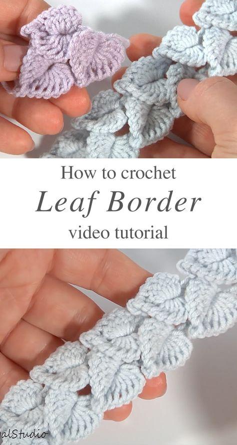 Crochet Leaf Border To Use In Many Works | CrochetBeja