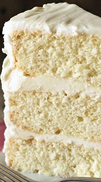 White Sour Cream Cake Recipe Cakejournal Com Sour Cream Cake Desserts Yummy Cakes