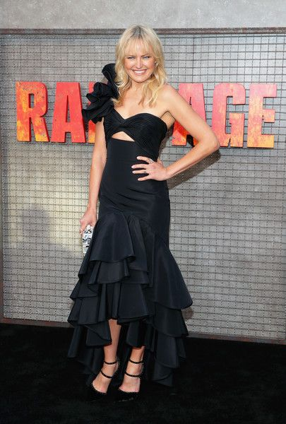 Malin Akerman attends the premiere of Warner Bros. Pictures' 'Rampage.'