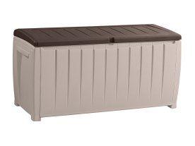 Keter Novel Storage Box 340l Outdoor Storage Boxes Plastic Decking Waterproof Outdoor Storage