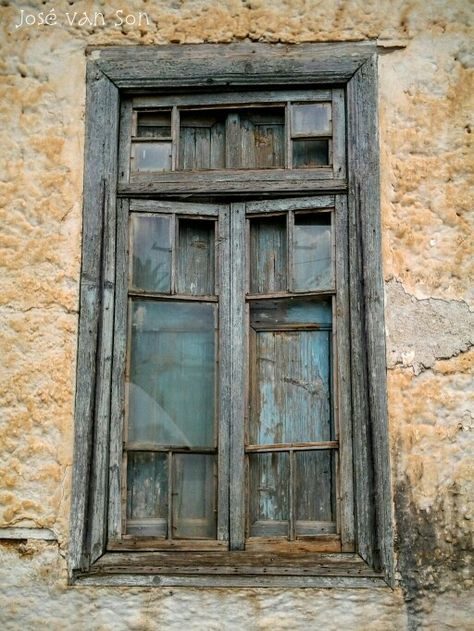 Old Wooden Window Abandoned House Astros Greece Windows