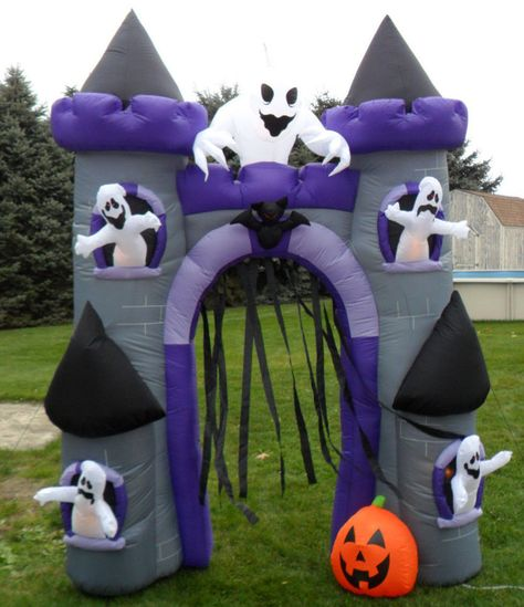 Gemmy Halloween Airblown Inflatable Haunted House Archway with Ghosts