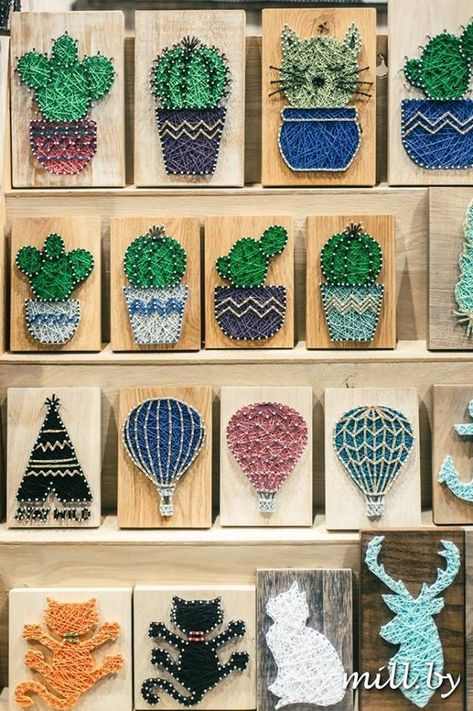 String art is very popular and fun. It is a great way to express your creativity. You can make many different