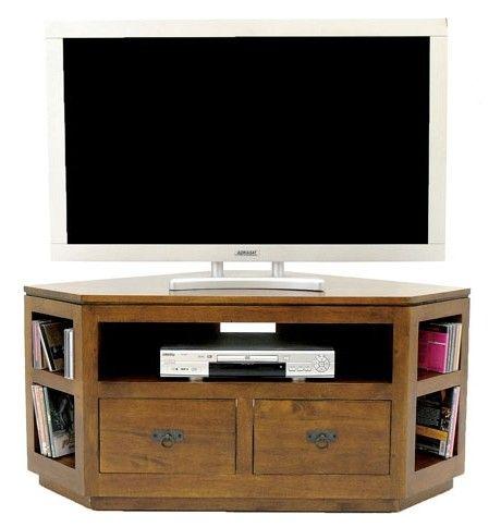 Meuble Tv D Angle Hevea 120cm Helena Avec Images Meuble